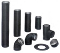 Black Single Wall Stove Pipe
