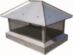 Hip and Ridge Stainless Steel Multi Flue with Skirt