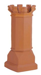 Estate Magnum E Tall Crown 1477TC Clay Chimney Pot