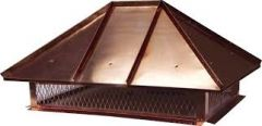 Copper Hip and Ridge Pre-Assembled  Multi Flue Hinged Chimney Cap