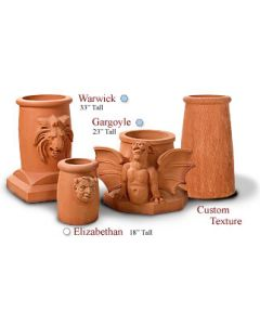 Gargoyle Clay Chimney Pot