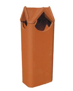 Dry Top 8 x 12 1402 Clay Chimney Pot