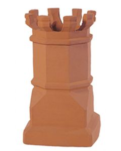 Estate Jumbo E Crown 1472EC Clay Chimney Pot