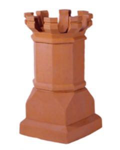 Estate Magnum E Crown 1477C Clay Chimney Pot