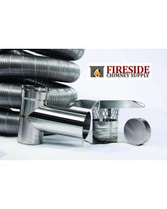 FireFlex Smooth Wall Chimney Liner Tee Kit